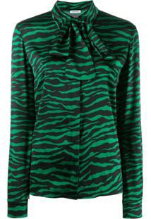 P.A.R.O.S.H. Blusa Animal Print - Verde