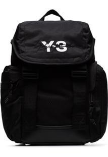 Y-3 Mochila Com Estampa De Logo 'Mobility' - Preto