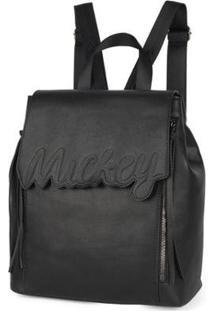 Bolsa Mochila Mickey Bmk78491 Feminina - Feminino-Preto
