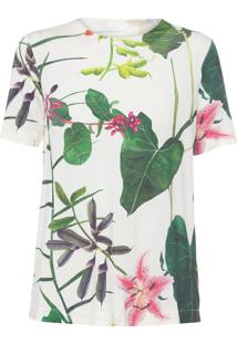 Blusa Feminina Floral - Off White