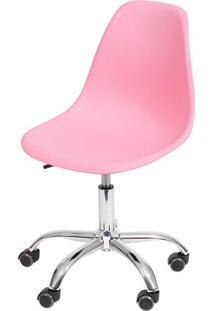 Cadeira Eames Dkr C/ Rodízio Or-1102R – Or Design - Rosa