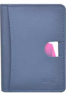 Carteira Mariart Couro - Masculino-Azul