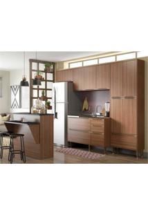Cozinha Completa Multimóveis Com 5 Peças Calábria 5464 Nogueira