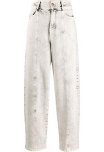 Stella Mccartney Bleached Tapered Jeans - Branco
