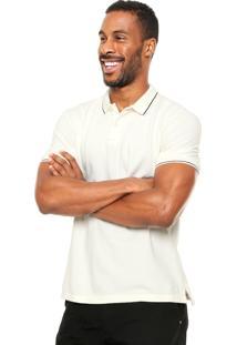 Camisa Polo Osklen Slim Bege