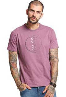 Camiseta Slim Fit Manga Curta Vlcs 18577 Masculina - Masculino-Lilás