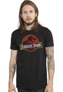 Camiseta Bandup! Jurassic Park Logo - Masculino-Preto