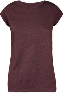 ... Camiseta Feminina Manga Curta Vinho e7653b73360e9