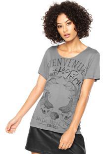 Camiseta Colcci Estampada Cinza