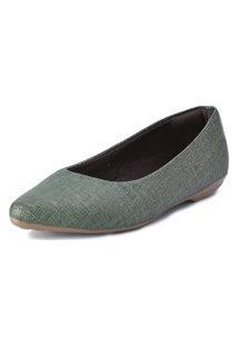 Sapatilha Scarpan Calçados Finos Listrado Verde Musgo