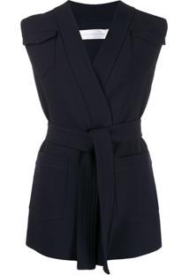 Victoria Victoria Beckham Colete Com Cinto - Azul