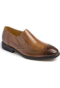Sapato Social Masculino Side Gore Kouts Marrom Claro