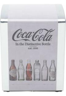Porta Guardanapo Em Metal Coca-Cola Evolution Of Bottles