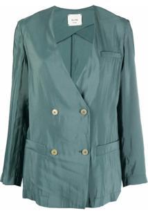Alysi Blazer Com Abotoamento Duplo - Verde
