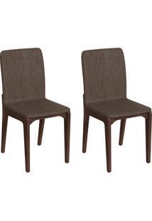 Conjunto Com 2 Cadeiras Darwin Marrom E Café