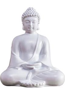 Escultura Buda 12Cm Branca