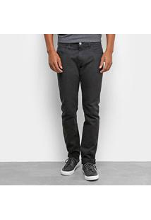 Calça Jeans Fórum Paul Slim Masculina - Masculino-Preto