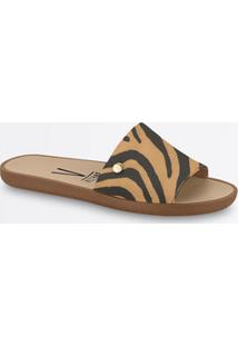 Chinelo Feminino Slide Estampa Animal Print Vizzano