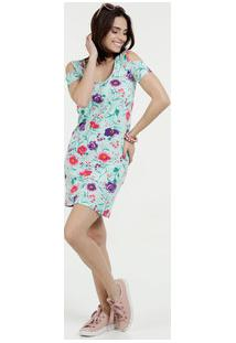 ab37905808 Marisa. Vestido Feminino Open Shoulder Estampa Floral ...