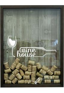Quadro Porta Rolhas 32X42X4Cm Wine House Betume Ii