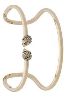Alexander Mcqueen Bracelete Duplo - Dourado