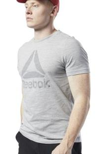 Camiseta Reebok Te Marble Bl Masculina - Masculino-Cinza