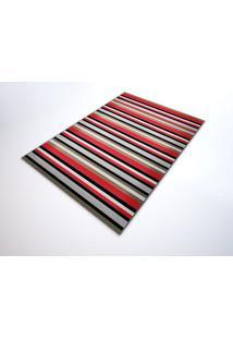 Tapete Saturs Moderno Listrado Vermelho 100 X 140 Cm Tapete Para Sala E Quarto