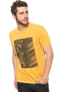 Camiseta Vr Folhas City Amarela