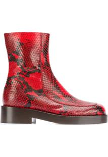 Marni Zip-Up Ankle Boot - Vermelho