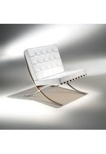 Poltrona Barcelona Estrutura Aço Inox Studio Mais Design By Mies Van Der Rohe