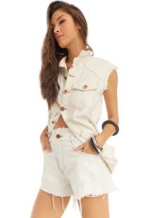 Colete Riccieri Jeans Offwhite