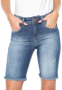 Bermuda Jeans Colcci Bia Azul