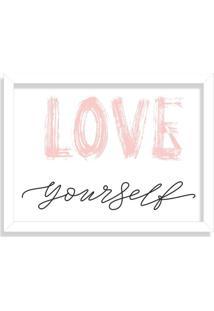 Quadro Decorativo Love Yourself Branco - Grande
