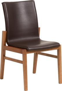 Cadeira Camã©Lia - Couro Marrom