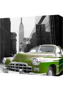 Quadro Impressão Digital Carro Verde 30X30Cm Uniart