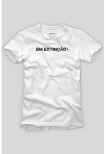 Camiseta Em Extinção Reserva Masculina - Masculino-Branco