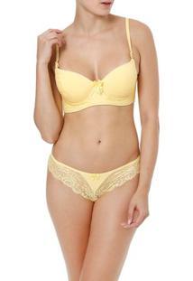 Conjunto De Lingerie Feminino Amarelo