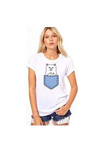 Camiseta Coolest Gato F*Ck Branco