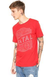Camiseta Fatal Surf Âncora Vermelha