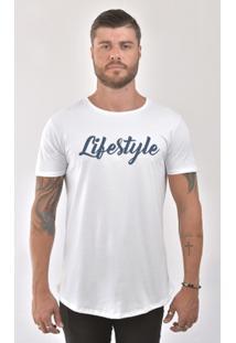 Camiseta Bora Lifestyle Masculina - Masculino-Branco