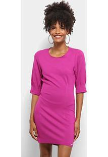 Vestido Colcci Curto Tubinho Liso - Feminino-Rosa