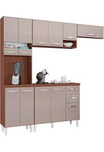 Cozinha Modulada 02 Peças Isadora Capuccino/Off White - Poquema