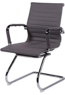 Cadeira Office Eames Esteirinha- Cinza- 105X61X46,5Cor Design