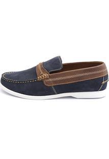 Docksider Casual Moderno Shoes Grand Confortável Azul