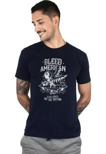 Camiseta Bleed American Swallow Marinho