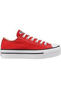 Tênis Converse All Star Plataform Feminino - Feminino-Vermelho