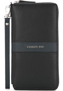 Cerruti 1881 Clutch De Couro - Preto