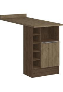 Armário De Cozinha Bancada Com Nichos 4036 Cedro/Wood - Decibal Móveis