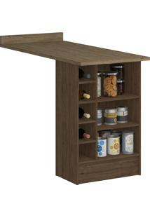Balcão Bancada Com Nichos 4036 Cedro/Wood - Decibal Móveis
