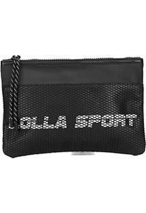 Bolsa Clutch Santa Lolla Nylon Lolla Sport - Feminino-Preto